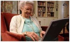Old Woman Typing